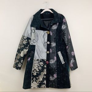 Dor Dor Couture Anthropologie Embroidered Coat